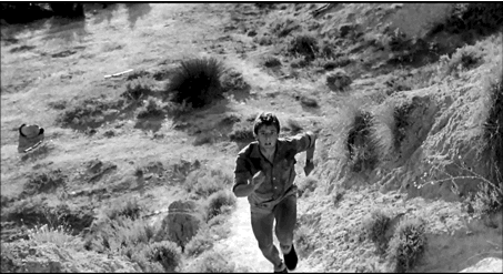 Figure 15 - Carlos Saura, La Caza (1978): dernière image: le survivant d'une chasse effrénée.