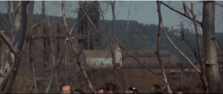 Figure 9 - Michael Cimino, The Deer Hunter (1978): le regard chasseur en caméra subjective; la chasse informe la vision du personnage, obnubilé par l'impératif de la belle prise.